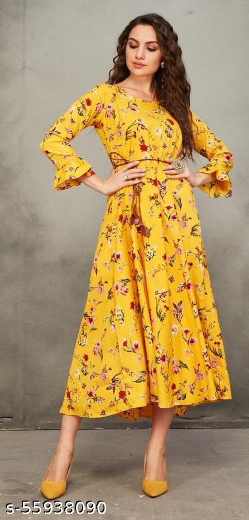COTTON MAXI DREES WITH BELT
