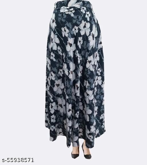 GENEALO Women's Stylish Fashionista Floral  Print ,Ankle Length Crepe for Your Casual || Regular wear || Formal || Office wear || Party