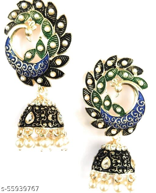 Peacock Design Jhumki