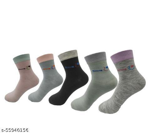 Mishkka Women's Cotton Ankle Length Socks M-6325 Pack of 5 Pairs