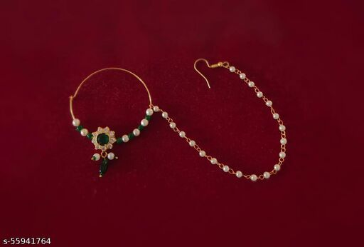 Rajwadi Special Rajputi Indian Traditional Gold Handmade Polish Nath Sat