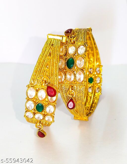 PAIR OF COPPER GOLD PLATED BANGLES