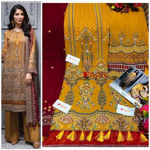 Pakistani style partywear georgette salwar suit