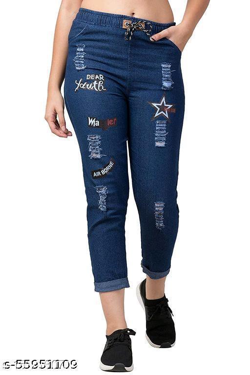 Classy Retro Fashionable Designer Women Jogger/Jeans
