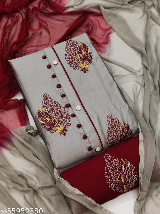Bhagyalaxmi Cotton Work Unstich Dress Matrrials
