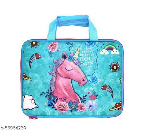 Multipurpose Zipper Pencil Case, Pen & Pencil Pouch Bag Case for School Supplies for Kids (Unicorn Holiday)