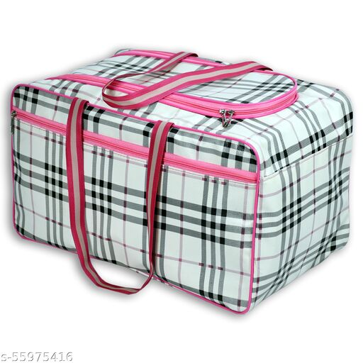 CS Collection Duffel Bag Travel Bag Luggage Bag Shoulder Handbag Storage for Luggage Travel Luggage Carry Bag Clothes Storage Weekender Bag (Pink)