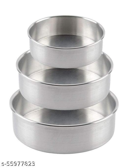 TRILOK Aluminum Round Cake Pans(Tray) Set, Cake Mold