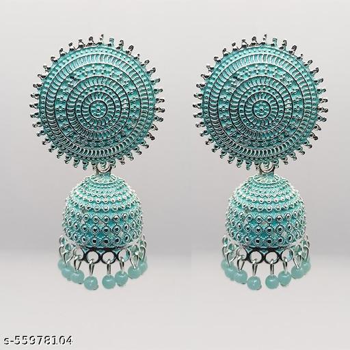 Lightweight Gold Plating Oxidised Jhumka Earring For Women & Girls