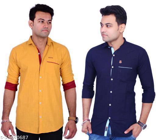 La Milano Casual Shirts Combo of 2 Pic