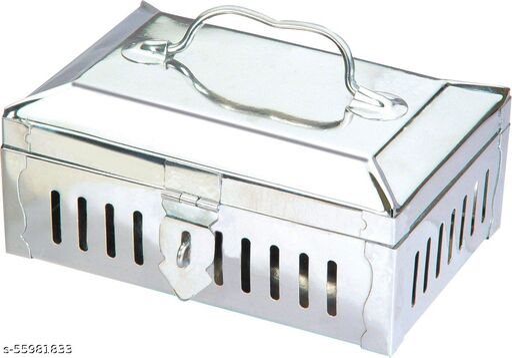 Stainless Steel Pandan/Pan Masala Box with 6 Wati Tray