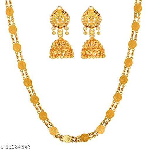 Crazy Queens 24inch Gold-Plated Ginni Chain&Earring set For Girls/Woman