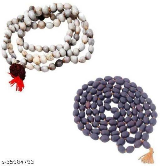 Vaijanti Mala & 108 Lotus Seeds Kamal Gatta Mala Shell Necklace