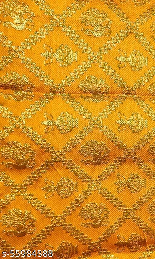 Silk-Cotton Blouse Piece Material for Women, Unstitched, Combo of 1(1 Meter Each) - Navratri Special, Puja Special_B-10