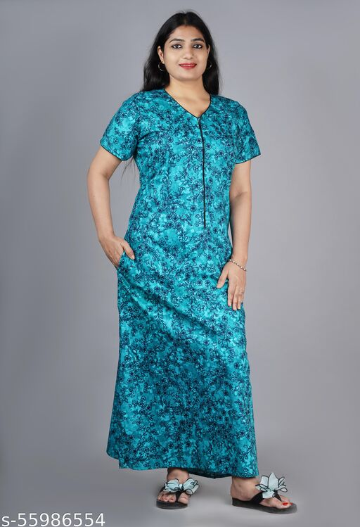 night gown for ladies daily wear cotton