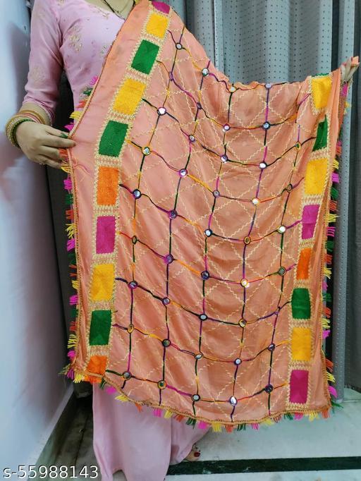 Stylish Mirror Phulkari Dupatta