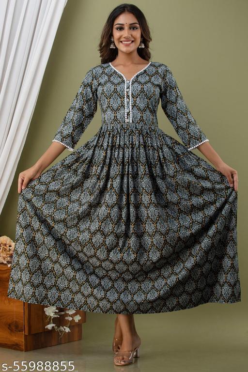 Rich Look Pom Pom Work Premium Quality Gown
