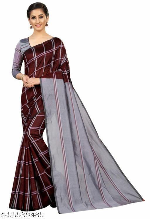 Tulsibrand Cotton Silk Saree
