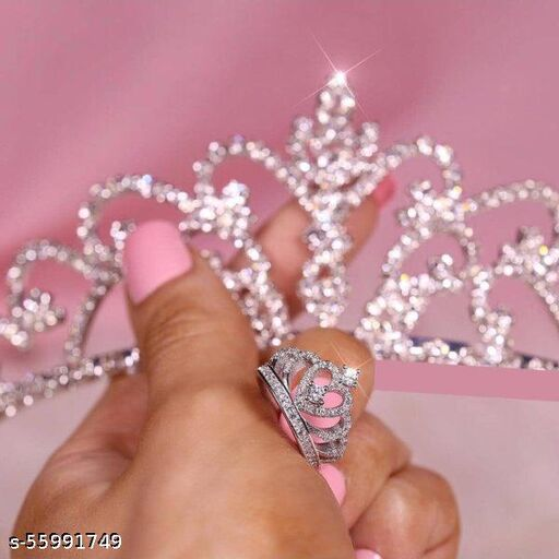 Crown silver ring