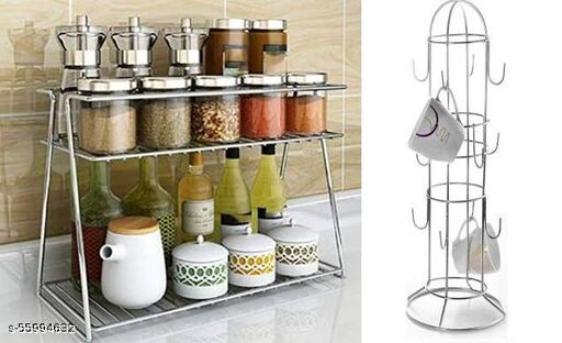 combo of cup holder round & speice rack