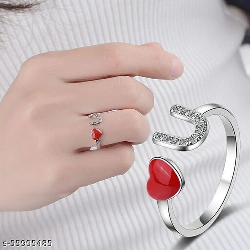 Love you silver ring