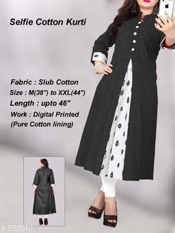 Women's Printed Cotton Slub Kurti