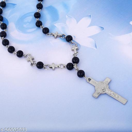 Onyx Designer Christian Rosary Bead Mala for Men