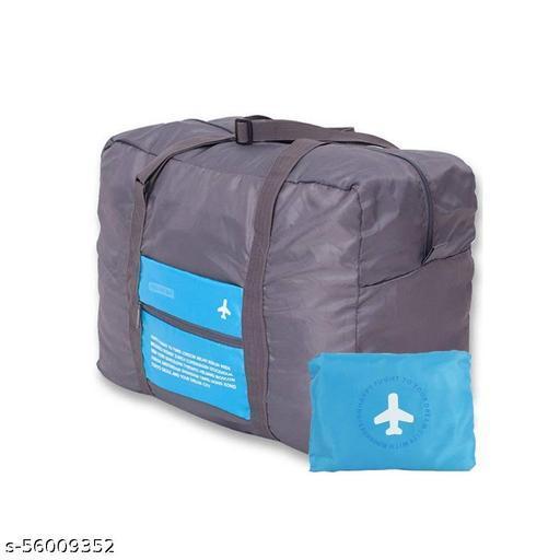 Polyester 32 L Waterproof Foldable Travel Storage Luggage Shoulder Flight Bag (Multicolor)