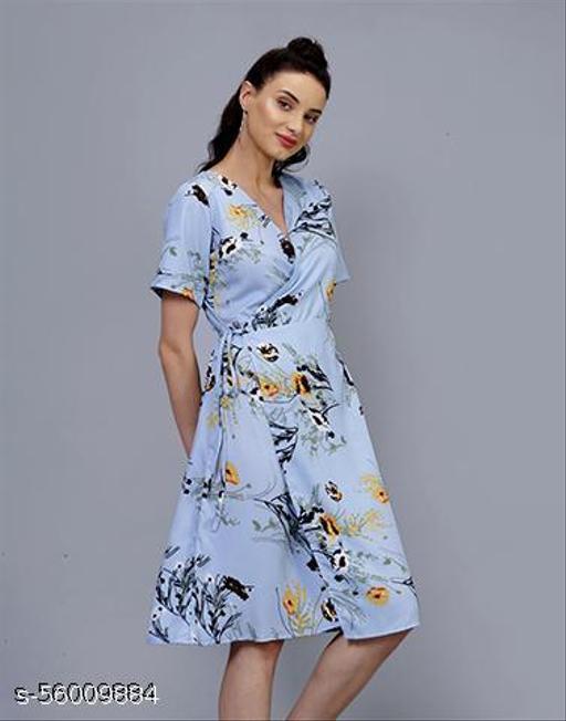 Stalk Dancing Daisies Blue Day Dress