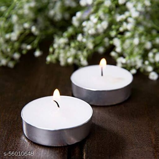Wax Tealight Candles for Home Decoration, Room, Bedroom, Birthday Decoration Kit   Tea Lights Candles Set of 50