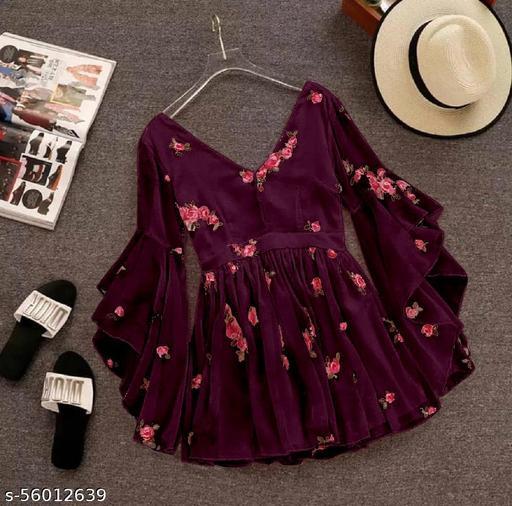 Wrap Style Flared Dress