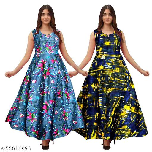 ALEXA COLLECTIONS Printed Rayon gown