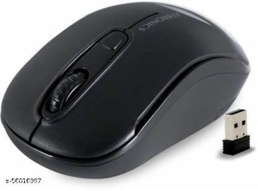 ZEBRONICS Mouse Wireless Optical Mouse (2.4GHz Wireless, Black) Wireless Optical Mouse  (USB 2.0, Black)