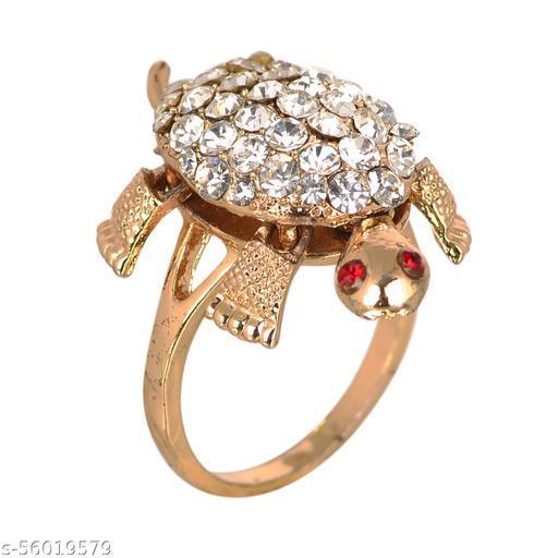 KESAR ZEMS Turtle Meru Ring For Good Luck Challa Ring and Prosperity - Men & Women {Size-22}