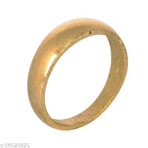 KESAR ZEMS Pure Brass Finger/Thumb Ring Good Luck Challa Ring For Unisex {Size-21}