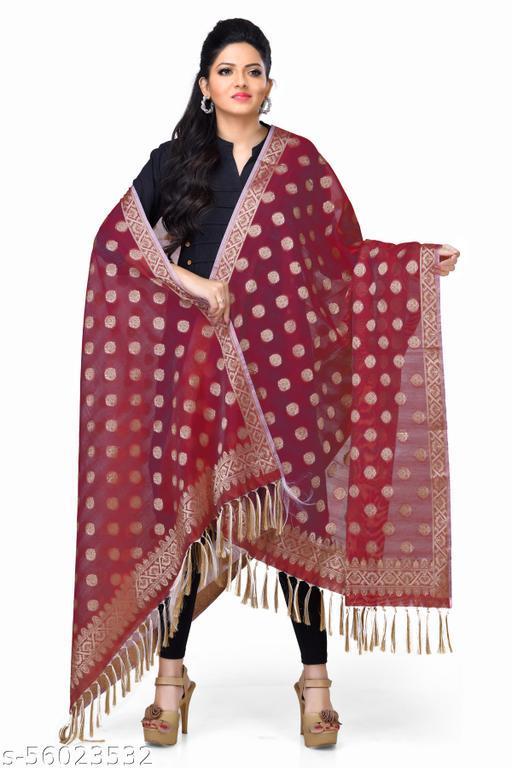 Women Cotton Banarasi Dupatta