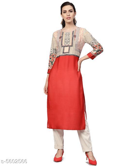 Trendy Stylish Crepe Women's Kurti