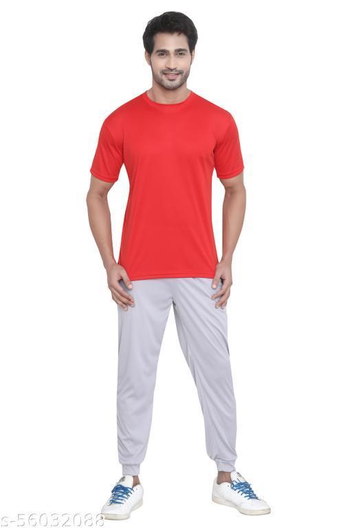 SMART GRABB Solid Lycra Blend Slim Fit Tracksuit for Men