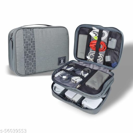 EUME Fixa Electronic Accessories Organizer & Travel Gadget Bag for Men & Women (Grey)
