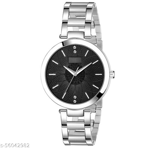 Wrist Watch for Girls Style Analog Fashion Female Silver Color