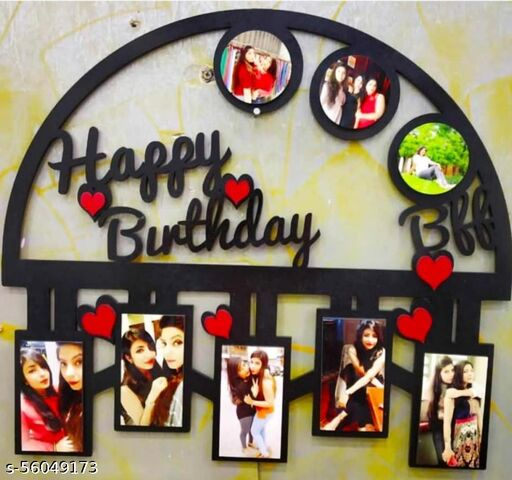 Happy Birthday Personalised Wooden Photo Frame 15 X 12 Inch - Special Birthday Gift for Wife Husband Friend