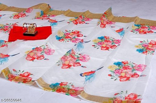 Cotton Silk Pure Saree in White Colour