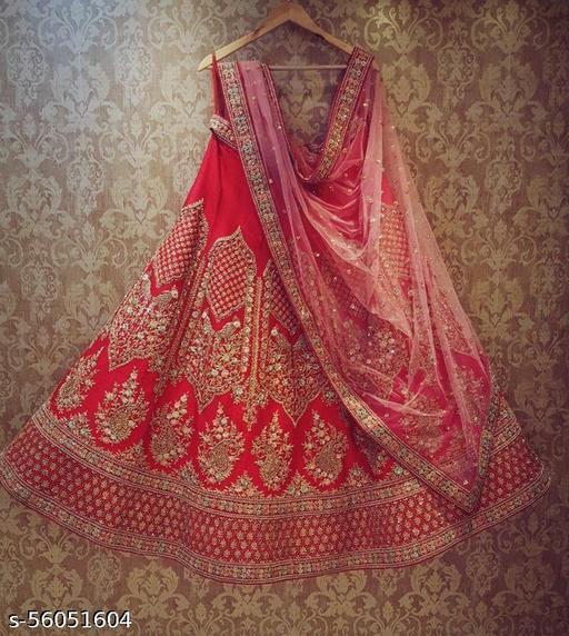 Red Partywear Wear Embroidery Lehenga Choli BI 37