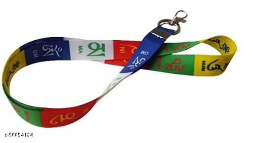 RACE MINDS Fabric Multicolour Tibetian Ladakh Prayer Lanyard Bike Tag Chian keychain