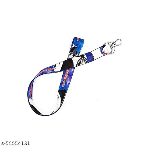 RACE MINDS Activa Blue Fabric Hook Key Chain for Bikes, Car, Lanyard Id Card Holder, etc