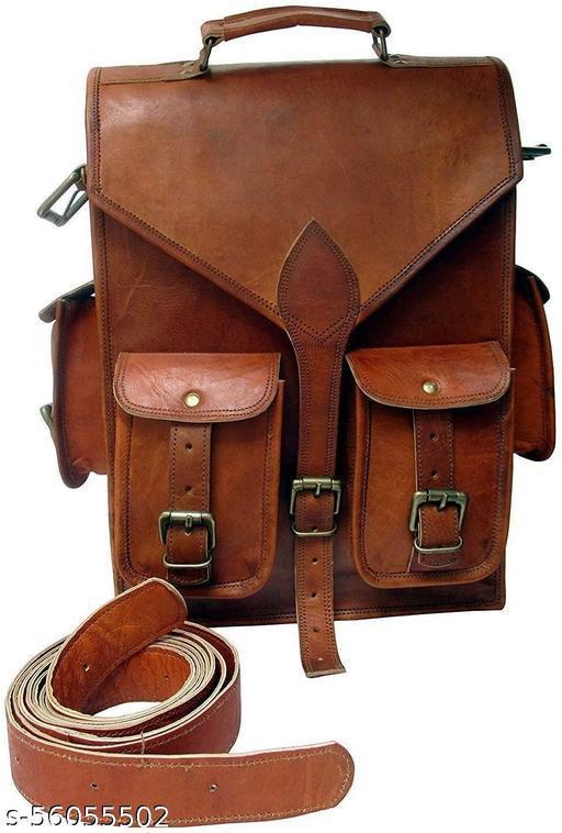 Vintage Leather Backpack Laptop Bag