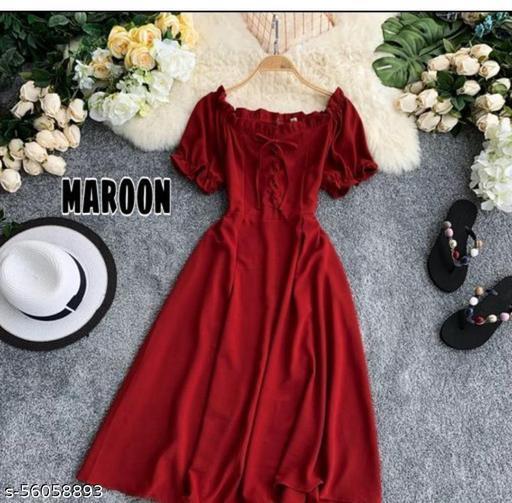 designer solid Dresses