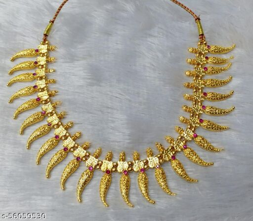 radha traditional pattern forming gold plated sNecklaces & Chains