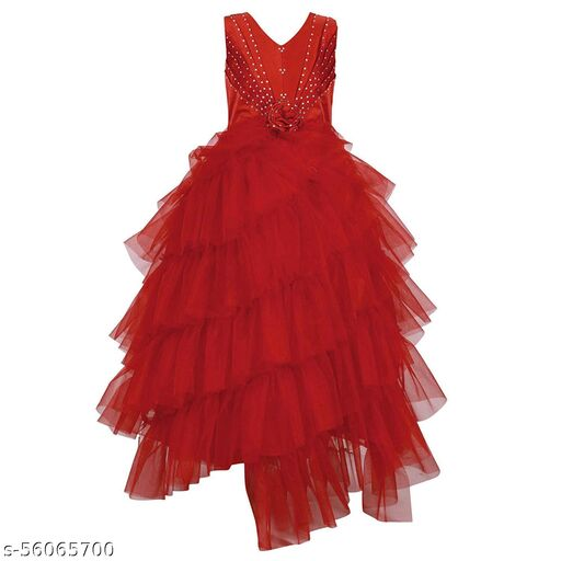 R Cube Girls Maxi/Full Length Ethnic Gowns