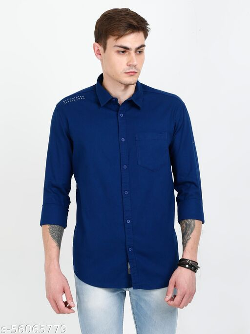Forester Printed Casual Shirt For Men - Blue